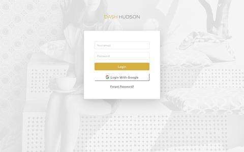 Screenshot of Login Page dashhudson.com - Dash Hudson - captured Aug. 20, 2019