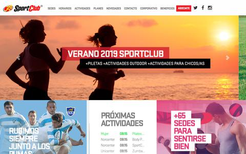 Screenshot of Home Page sportclub.com.ar - SportClub - Clubes y Gimnasios - captured Feb. 22, 2019