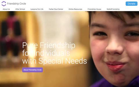 Screenshot of Home Page friendshipcircle.org - Friendship Circle of Michigan | Support and programs for children with special needs - captured Jan. 18, 2016