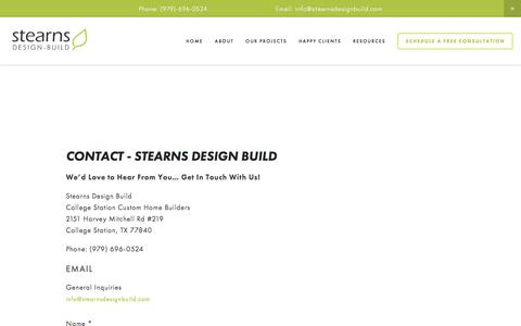 Screenshot of Contact Page stearnsdesignbuild.com - Contact Us — Stearns Design Build - captured Nov. 6, 2017