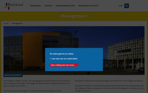 Screenshot of Team Page rocmondriaan.nl - Management | ROC Mondriaan - captured Feb. 22, 2016
