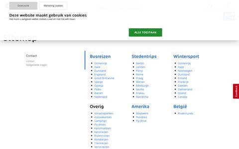 Screenshot of Site Map Page dejongintra.nl - Sitemap - de Jong Intra Vakanties - captured Jan. 17, 2020