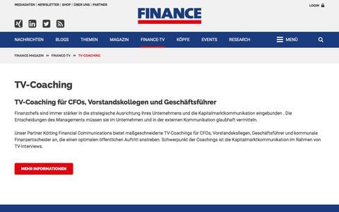TV-Coaching-FINANCE Magazin