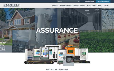 Screenshot of Home Page sensaphone.com - Sensaphone Remote Monitoring Solutions - captured Sept. 17, 2014