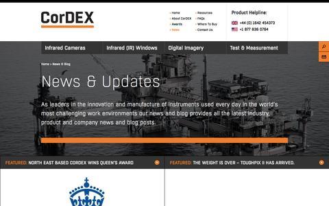 Screenshot of Press Page cord-ex.com - News & Blog - Cordex - captured Nov. 2, 2014
