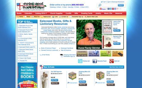 Screenshot of Menu Page episcopalbookstore.com - Episcopal Bookstore - Books, Gifts, Book Of Common Prayer - captured May 19, 2017