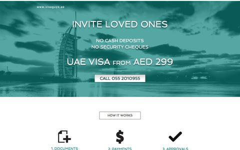 Screenshot of Home Page visaguys.ae - visa-guys-uae - captured Feb. 14, 2016