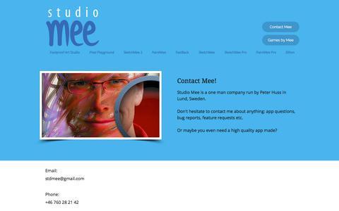 Screenshot of Contact Page studiomee.com - Contact | Studio Mee - captured Nov. 11, 2017