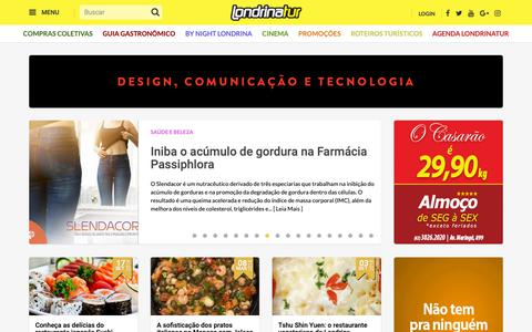 Screenshot of Home Page londrinatur.com.br - Londrinatur, o maior portal de Londrina e da região norte do Paraná - captured Sept. 28, 2018
