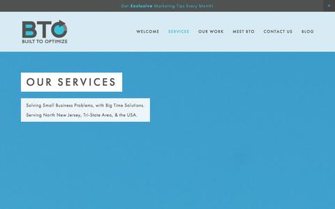 Screenshot of Services Page builttooptimize.com - Services Ń Built To Optimize - captured Jan. 7, 2016
