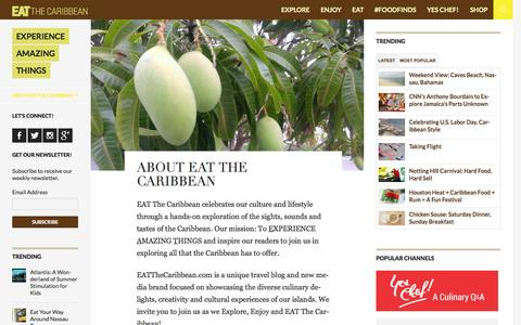 Screenshot of About Page eatthecaribbean.com - About EAT The Caribbean | EAT The Caribbean - captured Oct. 22, 2014