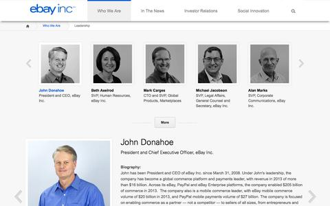 Screenshot of Team Page ebayinc.com - Leadership   eBay Inc. - captured Sept. 18, 2014