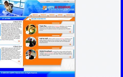 Screenshot of Home Page arppu.com - ARPPU    4G Broadband - captured Sept. 30, 2014