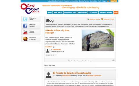 Screenshot of Blog otracosa.org - Recent blog posts - Blog - captured Oct. 7, 2014