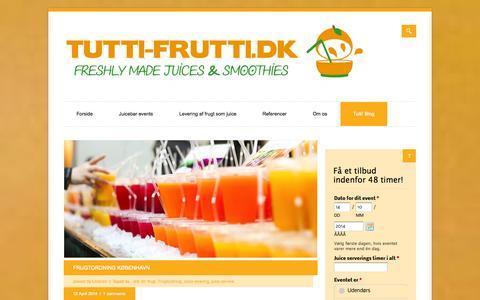 Screenshot of Blog tutti-frutti.dk - Tutti' Blog - Tutti-Frutti.dk - captured Oct. 7, 2014