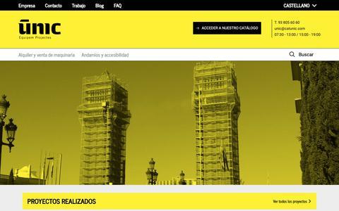 Screenshot of Home Page catunic.com - Home - UNIC - captured Nov. 10, 2018