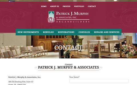 Screenshot of Contact Page pjmorgans.com - Contact Us | California | PJM Organs - captured Jan. 23, 2016