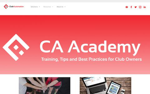 Screenshot of Blog clubautomation.com - Fitness Club Blog, Tips and Resources | Club Automation - captured July 13, 2019
