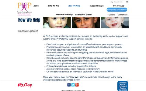 Parents Helping Parents, San Jose CA | How We Help