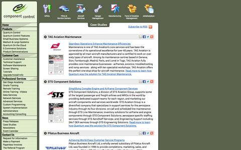 Screenshot of Case Studies Page componentcontrol.com - Component Control - Case Studies - captured Sept. 30, 2014