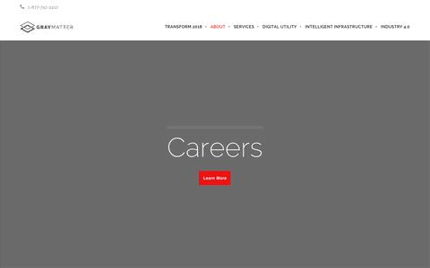 Screenshot of Jobs Page graymattersystems.com - Current Openings at GrayMatter - captured July 23, 2018
