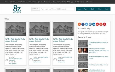 Screenshot of Blog 8z.com - Real Estate Search Results :: 8z Real Estate - Colorado Home Search and Real Estate Agents - captured April 29, 2017