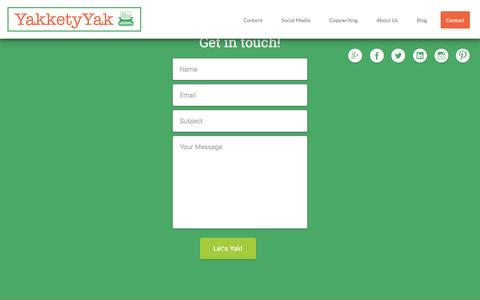 Screenshot of Contact Page yakketyyakllc.com - Contact Yakkety Yak LLC - Yakkety Yak LLC - captured Feb. 3, 2016