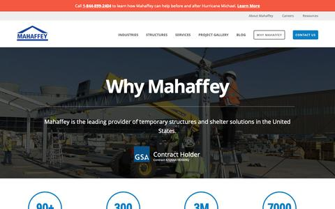 Screenshot of About Page mahaffeyusa.com - Why Mahaffey - captured Nov. 14, 2018