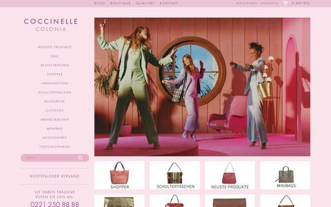 Screenshot of Home Page coccinelle-colonia.de - Coccinelle Taschen von Coccinelle Colonia - captured Oct. 30, 2018