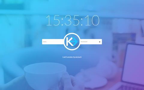 Screenshot of Login Page kaleoapps.com - index - captured Nov. 3, 2014