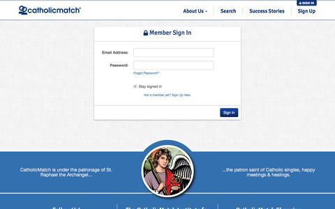 Screenshot of Login Page catholicmatch.com - Catholic Men and Women Online Sign In   CatholicMatch.com - captured Dec. 7, 2015