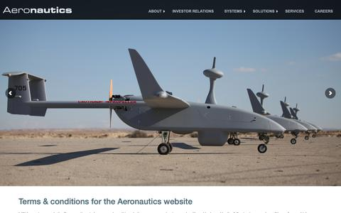 Screenshot of Terms Page aeronautics-sys.com - Aeronautics Ltd.   Terms & Conditions - captured Oct. 3, 2018