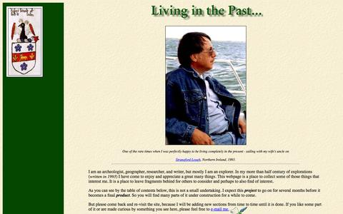Screenshot of Home Page living-in-the-past.com - Living in the Past - captured June 21, 2015
