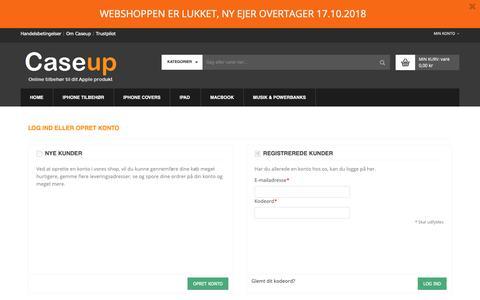 Screenshot of Login Page caseup.dk - Log-ind - captured Sept. 27, 2018