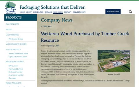 Screenshot of Press Page tcrllc.com - Company News Archives - Timber Creek - captured Oct. 18, 2018