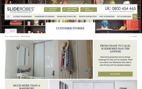 Screenshot of Case Studies Page sliderobes.co.uk - Customer Stories - captured May 28, 2017