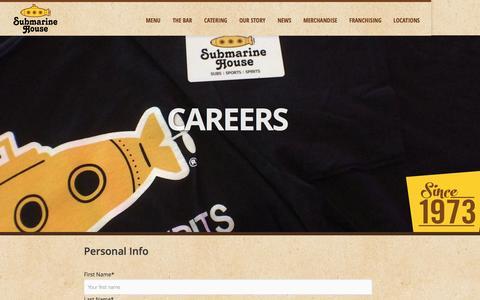 Screenshot of Jobs Page submarinehouse.com - Careers | Submarine House - captured Aug. 15, 2016