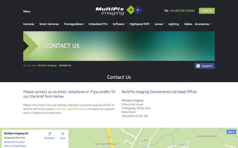Screenshot of Contact Page multipix.com - Contact Us | Multipix Imaging - captured Oct. 1, 2014