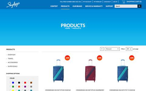 Screenshot of Login Page skybags.co.in - skybags school bags, college bags, 17 inch laptop backpacks online - captured Sept. 23, 2018