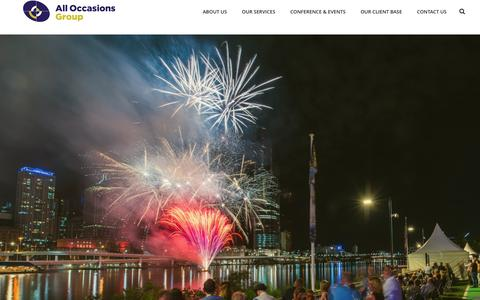 Screenshot of Home Page alloccasionsgroup.com - All Occasions Group | Event Management and Travel Specialist - captured May 29, 2017