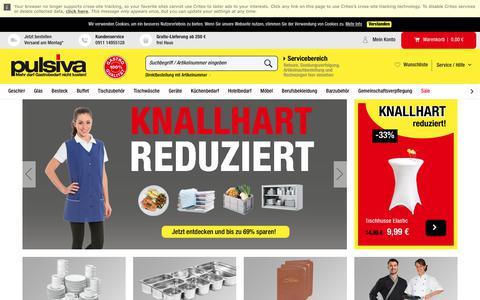 Screenshot of Blog pulsiva.com - Gastrobedarf günstig online kaufen   Pulsiva Deutschland - captured Sept. 23, 2018