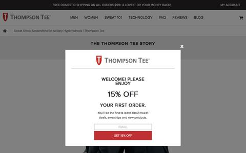 Sweat Shield Undershirts for Axillary Hyperhidrosis | Thompson Tee