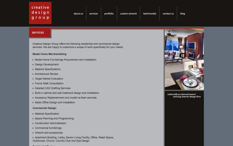 Screenshot of Services Page smcdg.com - Services - captured Oct. 3, 2014