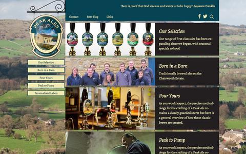 Screenshot of Home Page peakales.co.uk - Home | Peak Ales - captured Sept. 29, 2014