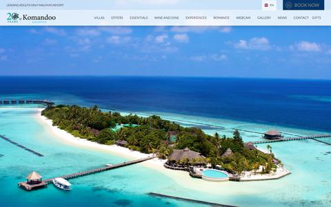 Screenshot of Contact Page komandoo.com - Contact the team at Komandoo Maldives Resort with your questions - captured Nov. 8, 2018