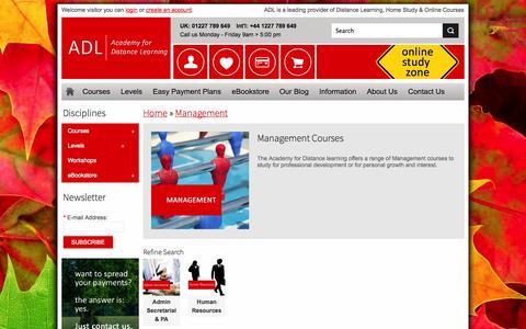Screenshot of Team Page adlonlinecourses.com - Management Courses - captured Oct. 2, 2014