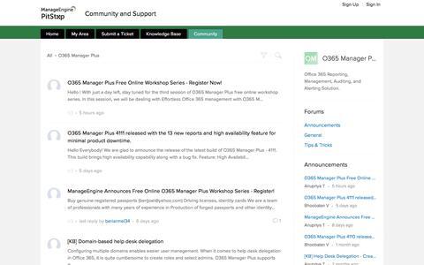 Community | O365 Manager Plus