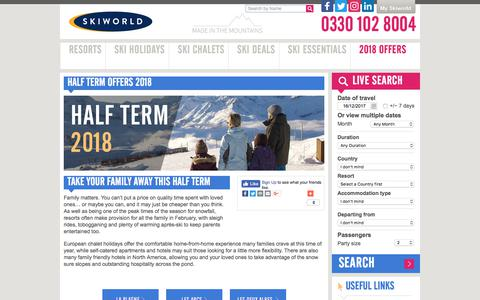 Half Term Offers | Ski Deals | Skiworld
