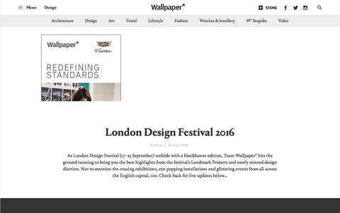 London Design Festival 2016 | Wallpaper*