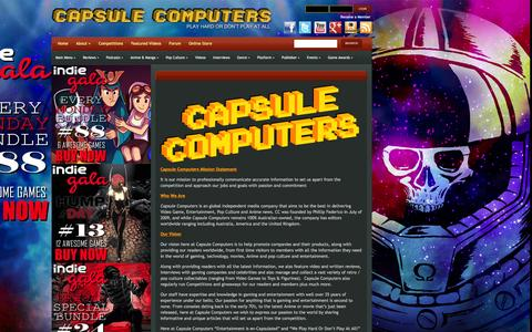 Screenshot of About Page capsulecomputers.com.au - About | Capsule Computers - Gaming & Entertainment News, Reviews, Interviews & Competitions - captured Dec. 7, 2015